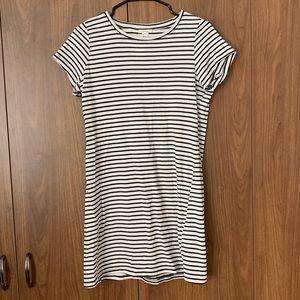 Forever 21 Black White Striped T-Shirt Dress NWT